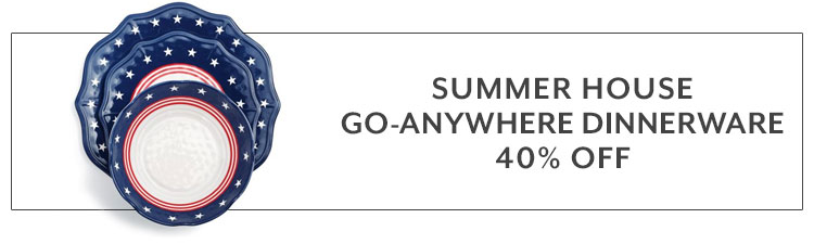 Summer house go anywhere dinnerware 40% off