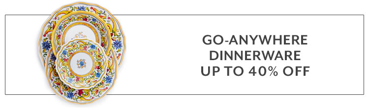 go anywhere dinnerware up to 40% off