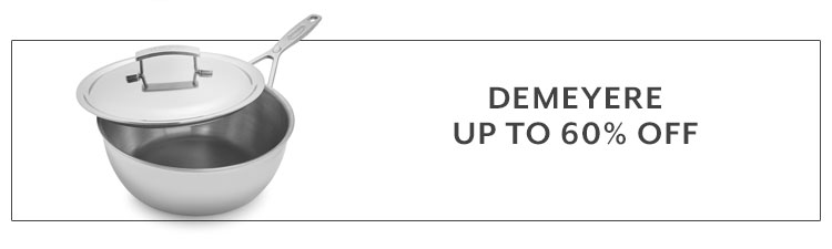 Demeyere cookware up to 60% off
