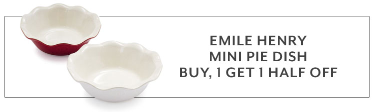 Emile Henry mini pie dish buy 1, get 1 half off