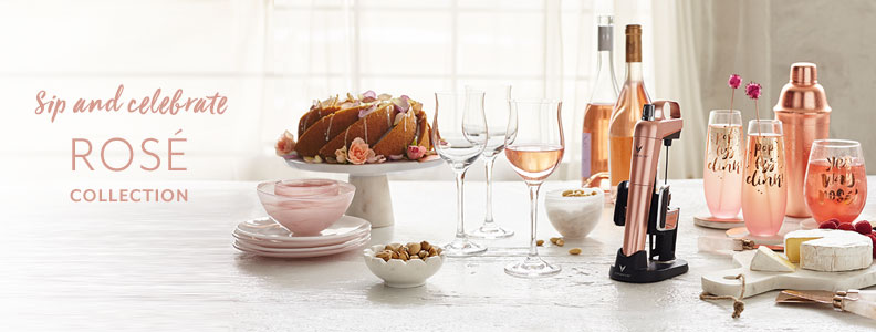 Sip and celebrate new & only at Sur La Table Rose Collection.