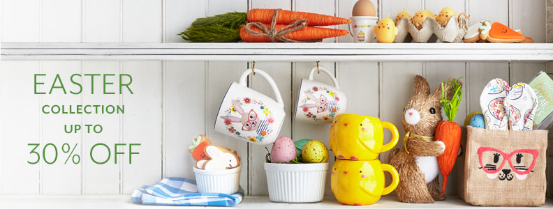 Easter collection up to 30% off. Easter Sunday is April 1.