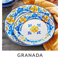Granada outdoor dinnerware.