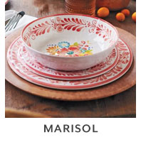 Marisol outdoor dinnerware.