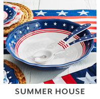 Summer House outdoor dinnerware.