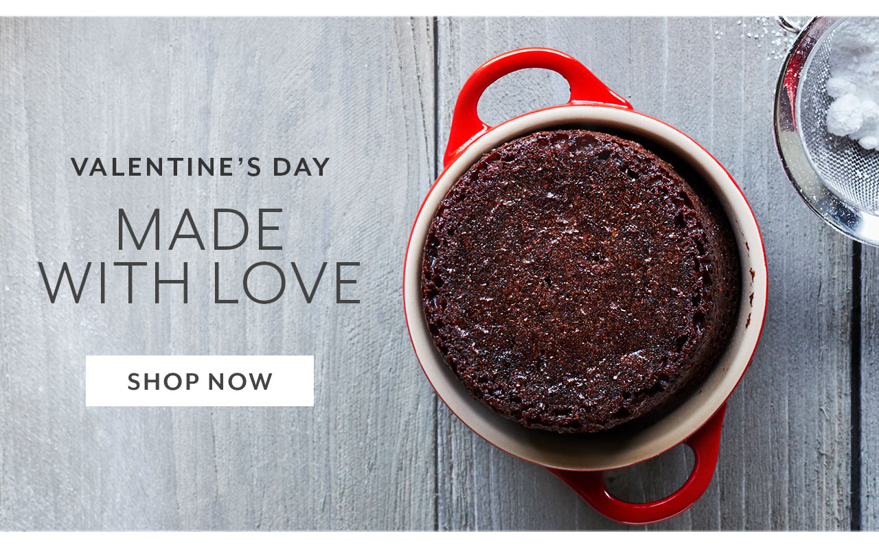 Valentine's Day. Made with love. Shop Now.